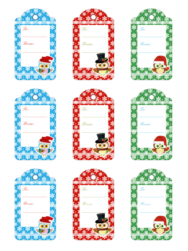 Christmas Gift Tags | Bottlecap4u