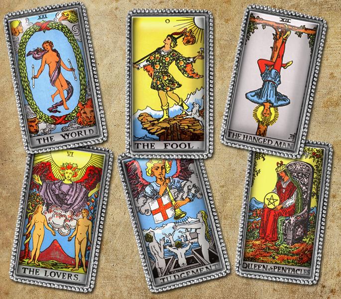 image regarding Printable Tarot Cards named Aged Tarot Playing cards