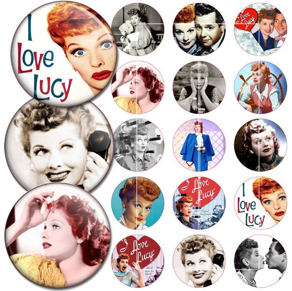 I Love Lucy bottle cap images