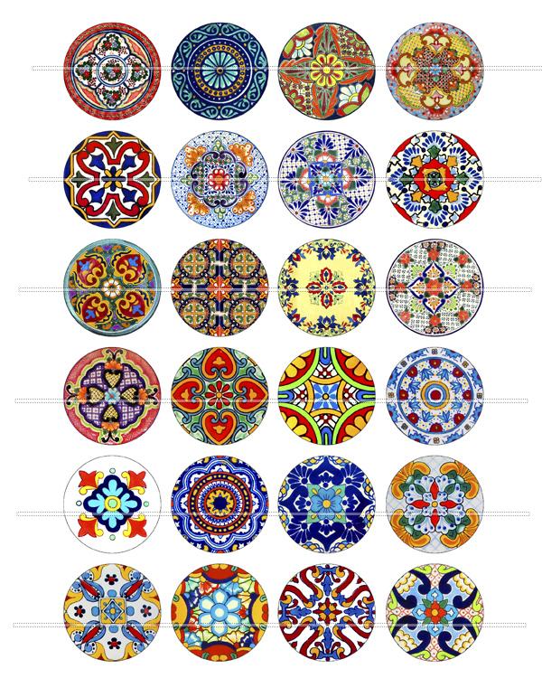 mexican talavera collage
