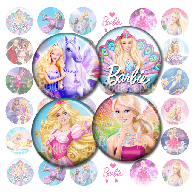 photo relating to Printable Bottlecap Images referred to as Barbie 1 inch Bottle cap illustrations or photos Printable Spherical pictures 4x6