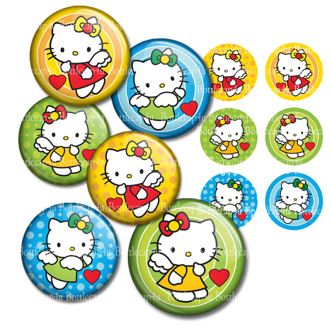 d2b117b75 Hello Kitty Angels 1 inch bottlecap images 4x6 collage sheets ...