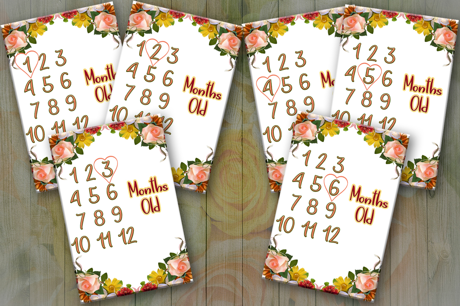 photo regarding Printable Baby Month Signs called Every month Boy or girl Milestone Playing cards, Printable Playing cards, Youngster