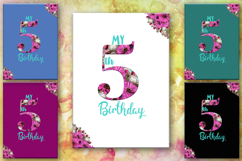 Birthday Card Happy First BirthdayCute 5th BirthdayInstant Download Digital Printable