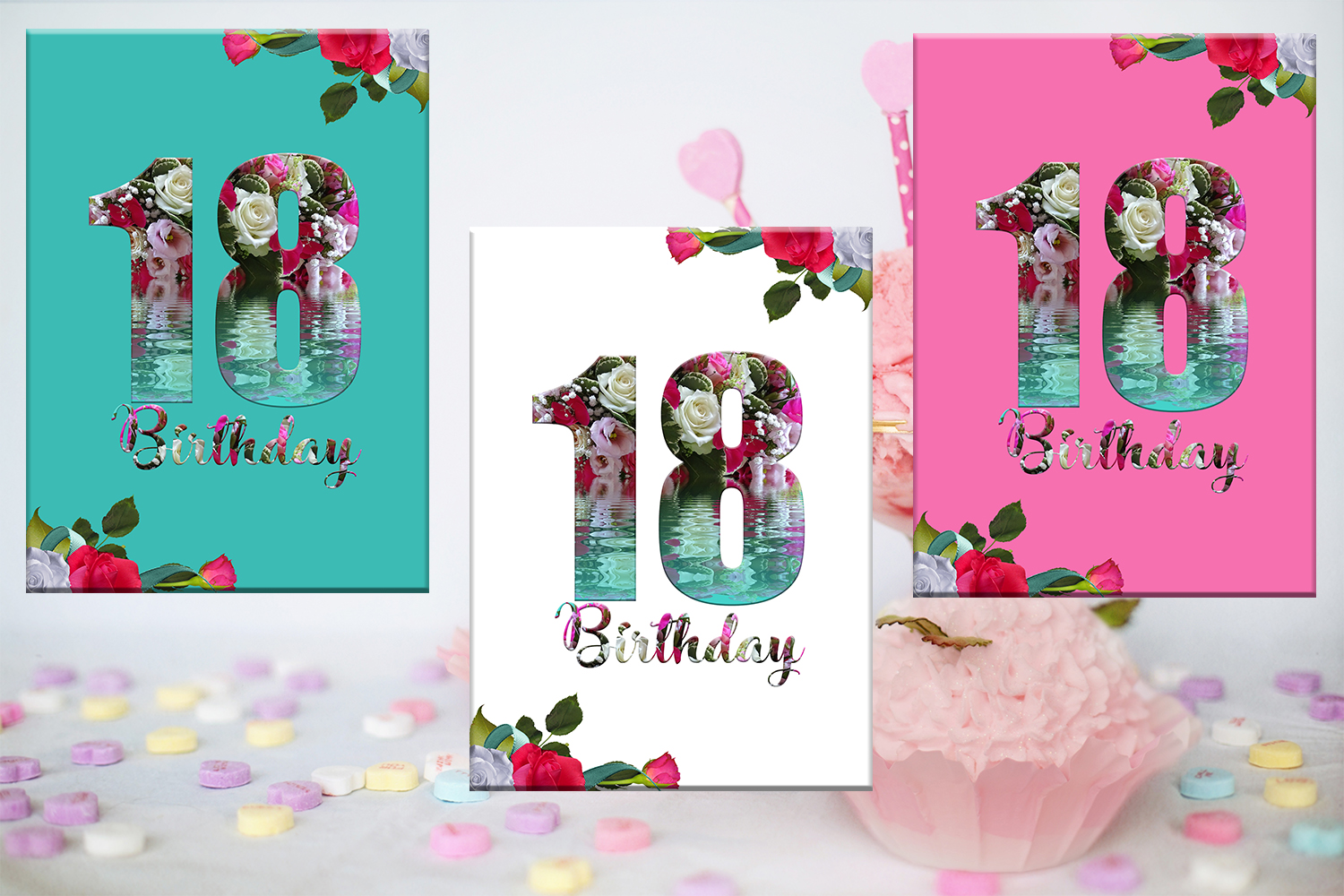 Birthday Card Happy First BirthdayCute 18th BirthdayInstant Download Digital Printable